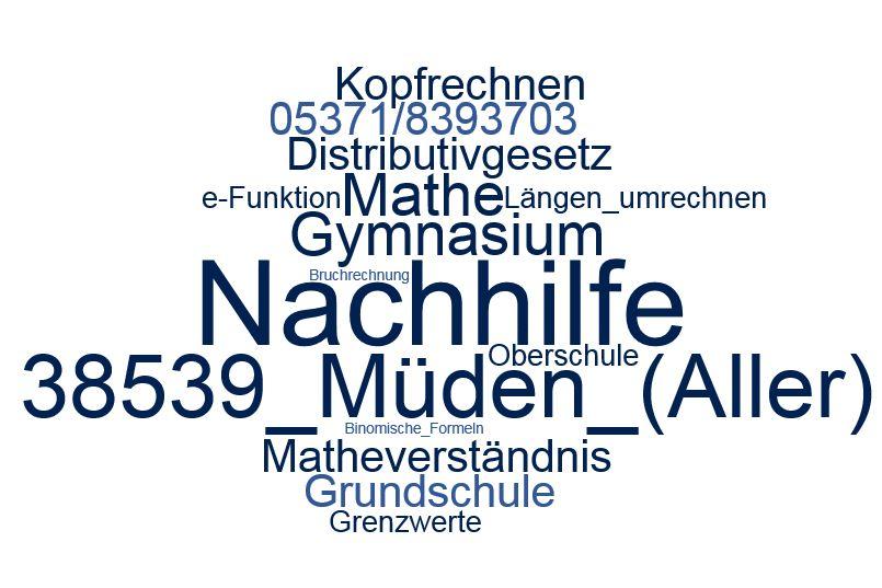 Nachhilfe Mathe Müden (Aller)