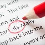Proofreading its error