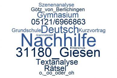 Deutsch Nachhilfe Giesen