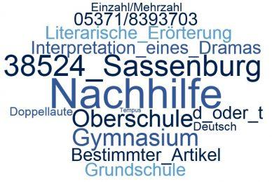 Deutsch Nachhilfe Sassenburg