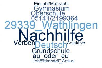 Deutsch Nachhilfe Wathlingen