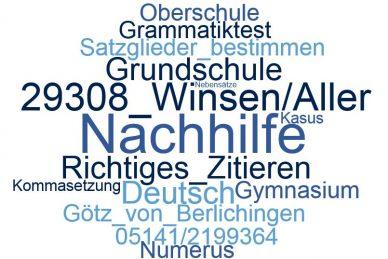 Deutsch Nachhilfe Winsen/Aller