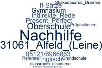 Englisch Nachhilfe Alfeld