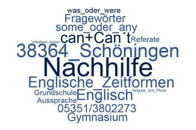 Englisch Nachhilfe Schöningen