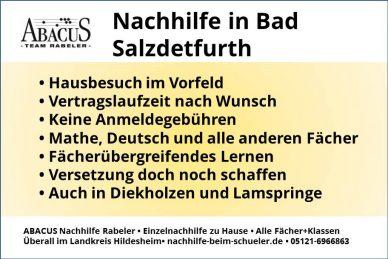 Nachhilfe in Bad Salzdetfurth