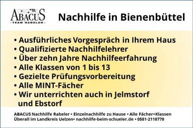 Nachhilfe in Bienenbüttel
