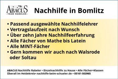 Nachhilfe in Bomlitz