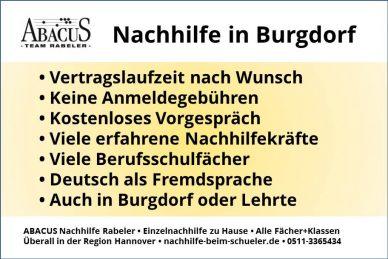 Nachhilfe in Burgdorf