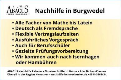 Nachhilfe in Burgwedel