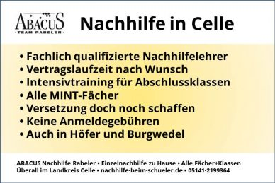 Nachhilfe in Celle