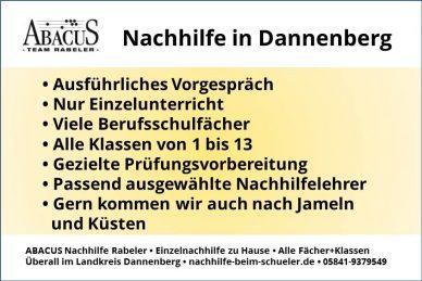 Nachhilfe in Dannenberg