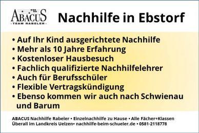 Nachhilfe in Ebstorf