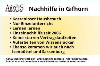 Nachhilfe in Gifhorn