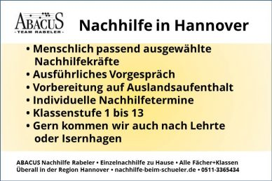 Nachhilfe in Hannover
