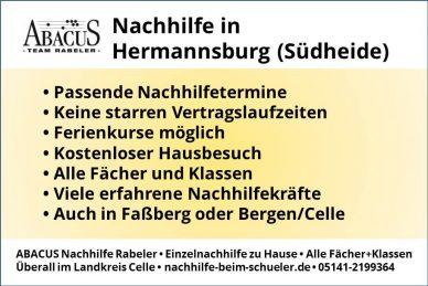 Nachhilfe in Hermannsburg