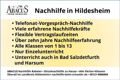 Nachhilfe in Hildesheim