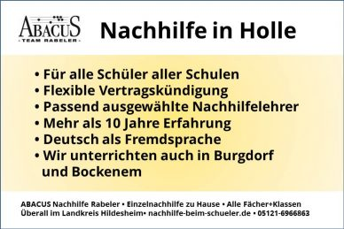 Nachhilfe in Holle