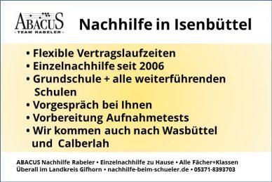 Nachhilfe in Isenbüttel