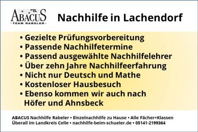 Nachhilfe in Lachendorf