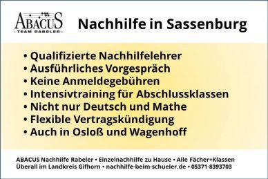 Nachhilfe in Sassenburg