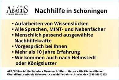 Nachhilfe in Schöningen