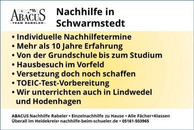Nachhilfe in Schwarmstedt