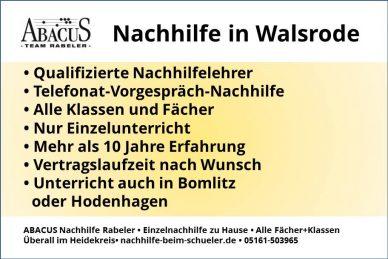 Nachhilfe in Walsrode