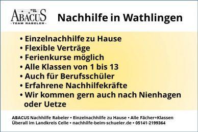 Nachhilfe in Wathlingen