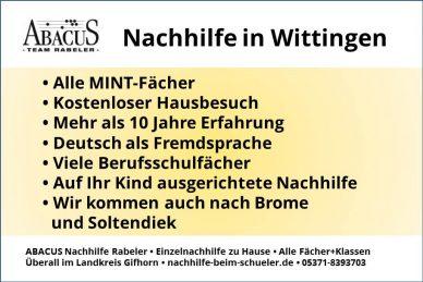 Nachhilfe in Wittingen