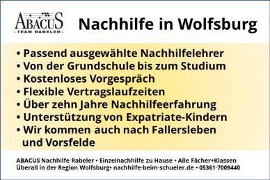 Nachhilfe in Wolfsburg