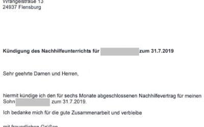 Notenverbesserung in vielen Fächern dank Nachhilfe in Deutsch und Latein in Hannover