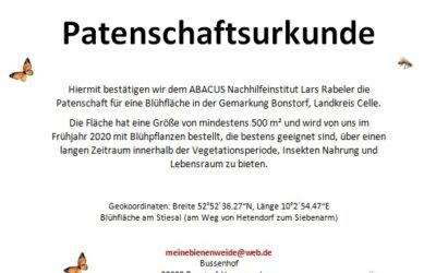 ABACUS Rabeler unterstützt das Projekt Bienenweide im Landkreis Celle