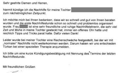 Lob für Mathe Nachhilfelehrerin in Braunschweig