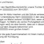 Angst vor Mathe verloren durch Nachhilfe für Abiturientin in Wolfenbüttel