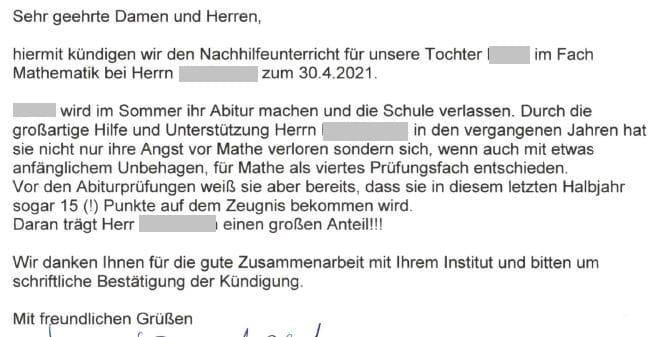 Angst vor Mathe verloren - Abiturientin in Wolfenbüttel